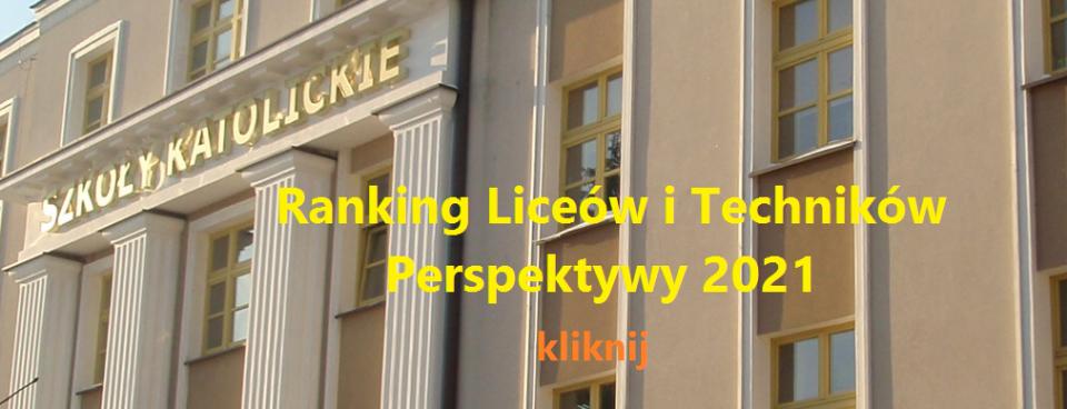 Ranking Liceów i Techników Perspektywy 2021