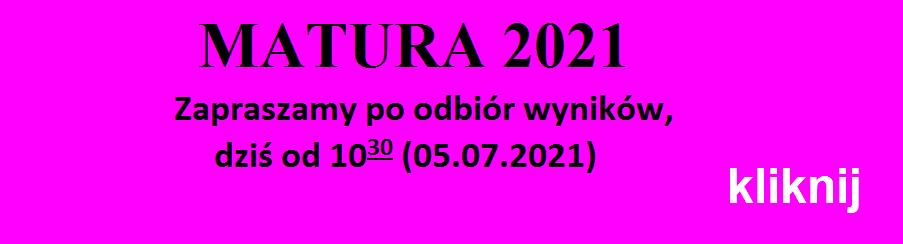Wyniki matur 2021